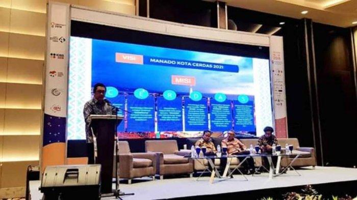 Wawali Manado Mor Bastiaan Jadi Pembicara Seminar Smart Island and Smart Tourism di Semarang
