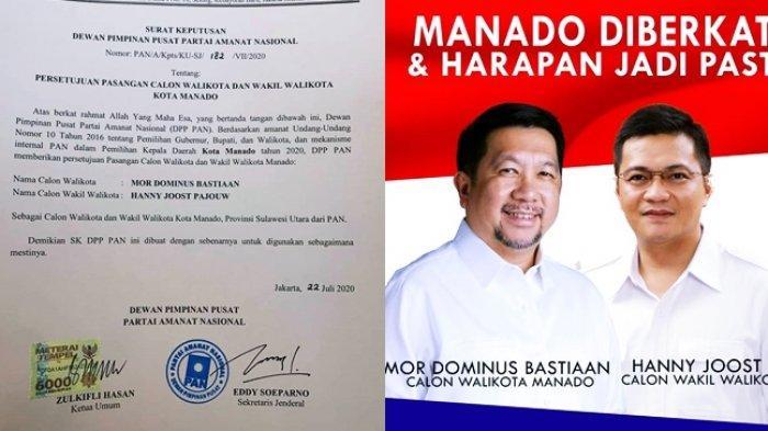 PAN Dukung Pasangan Calon MOR-HJP Bersaing untuk Kota Manado