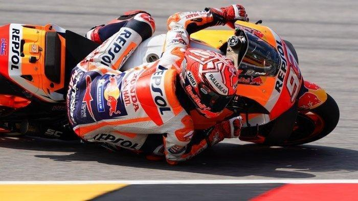 Video Detik-detik Marc Marquez Kecelakaan di Sirkuit Jerez, Coba Lihat Bagaimana Motornya Terbang
