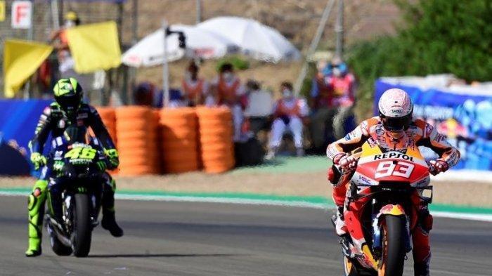 HASIL MotoGP Portugal 2021 - Marc Marquez Sukses Selesaikan Balapan, Quartararo Juara, Rossi?