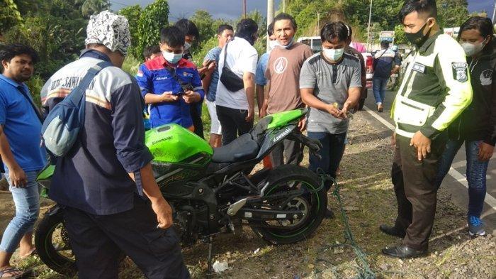 Kecelakaan di Ringroad Kota Manado, Tabrakan Antar Pengendara Motor