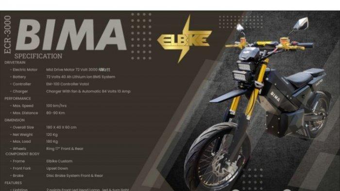 Motor Listrik Elbike Bima Enduro Diklaim Setara 230 Cc Motor Bensin, Masih dalam Tahap Prototipe