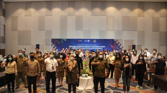 GM PT Angkasa Pura I Bandara Samrat Manado, Minggus ET Gandeguai dan Kepala Dispar Sulut, Henry Katjili menandatangani MoU promosi pariwisata dan ekonomi kreatif di Bandara Samrat di Four Points by Sheraton Manado, Senin (28/03/2021).