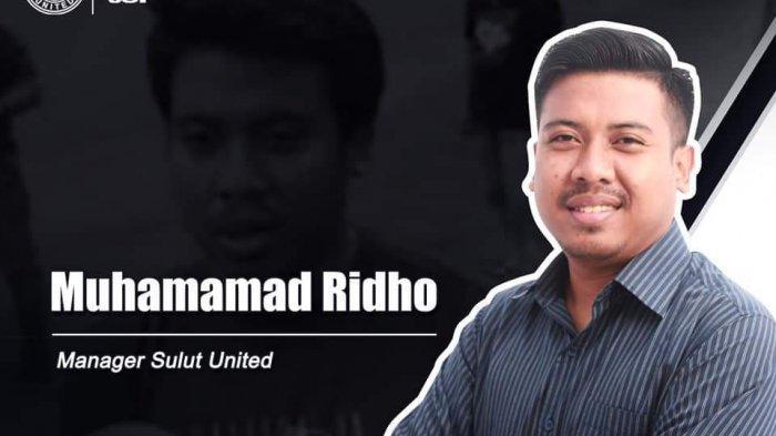 Manager Sulut United Muhamamad Ridho