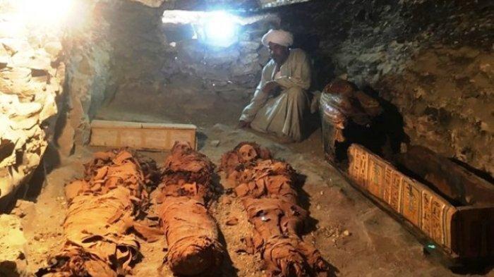 Sederet Mumi di Mesir Ditemukan, Peti Mati Para Dewa Kuno Bermunculan, Kini Berjumlah Seratus Lebih