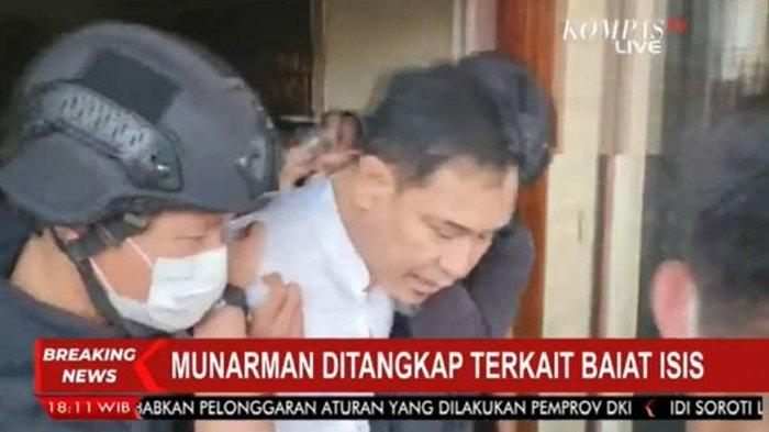Munarman ditangkap Densus 88.