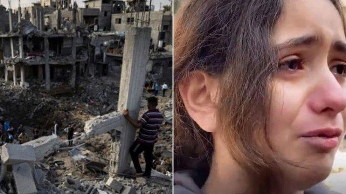 Bocah Palestina Menangis Tersedu-sedu, Rumahnya Hancur Diserang Israel: Apa Salah Kami?