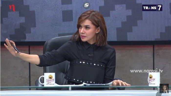 Najwa Shihab dalam acara Mata Najwa Trans 7.