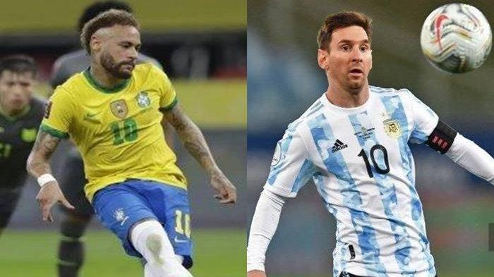PREDIKSI Argentina vs Brasil Final Copa America 2021, Neymar dan Lionel Messi Jadi Sorotan