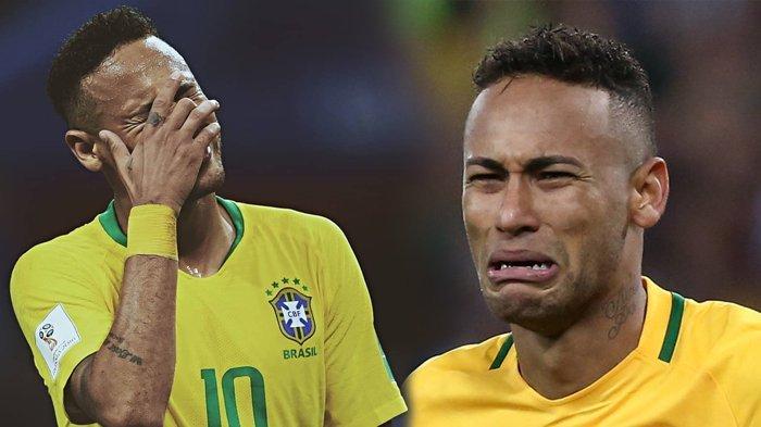 Deretan Foto Tangisan Neymar Setelah Brasil Kalah dari Belgia, Mewek hingga Tertunduk Lesu!