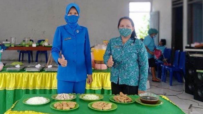 Ny Lentina Adi Sucipto selaku Ketua Cabang 7 Korcab VIII DJA II Jalasenastri Lanal Melonguane.