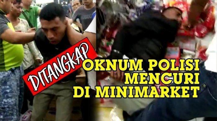 Oknum Polisi Diamuk Massa, Ketahuan Ngutil di Minimarket, Curi Baterai dan Cokelat