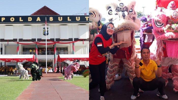 Olahraga Polda Sulut Ikut Diramaikan 8 Barongsai dari Klenteng Kwan Tong Manado