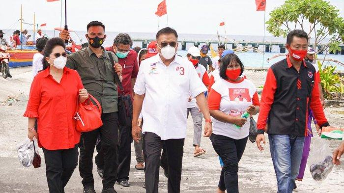 Olly dan Rita Sambangi Pulau Miangas, Disambut Antusias Warga Perbatasan NKRI