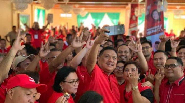 Gelar Rapat Konsolidasi Pilpres-Pileg 2019 di Tahuna, Olly Dondokambey Siap Menangkan Jokowi-Amin