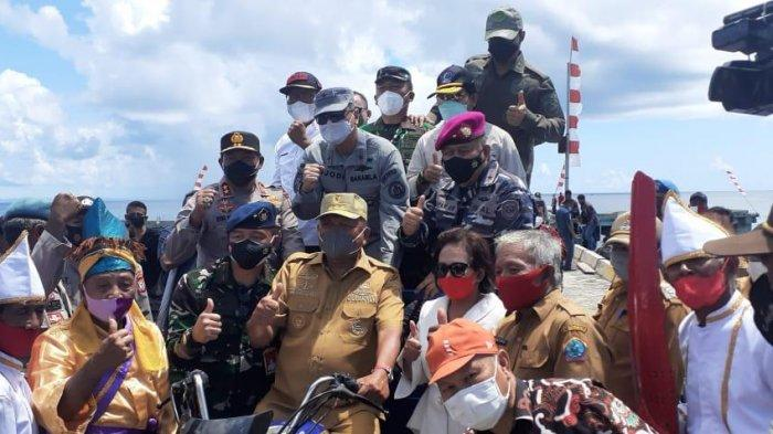 Gubernur Olly Dondokambey bersama Forum Koordinasi Pimpinan Daerah (Forkopimda) Provinsi Sulawesi Utara menggelar Patroli Perbatasan Pulau Terluar di Kabupaten Kepulauan Talaud, Kamis (24/6/2021) .