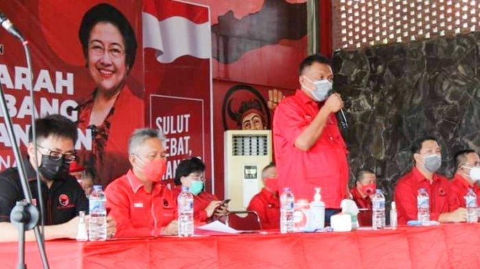 Olly-Steven Pimpin Langsung Musyawarah Anak Cabang PDIP,  Rio Terpilih Jadi Ketua PAC Wenang