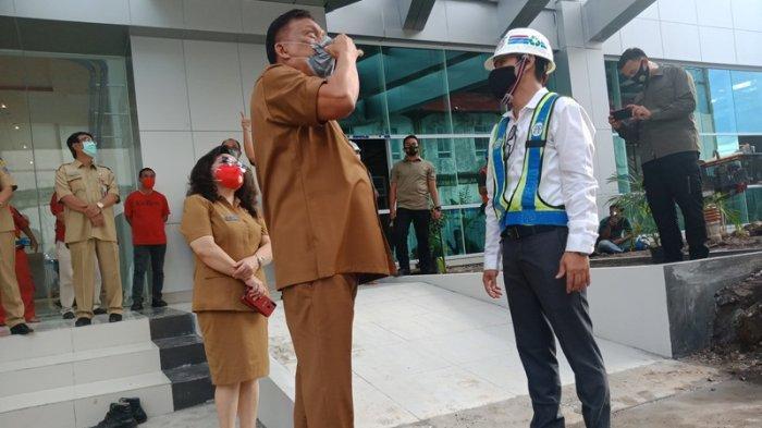 Olly-Steven Tinjau RSUD Provinsi Sulut, Fisik Gedung 11 Lantai Sudah 93 Persen
