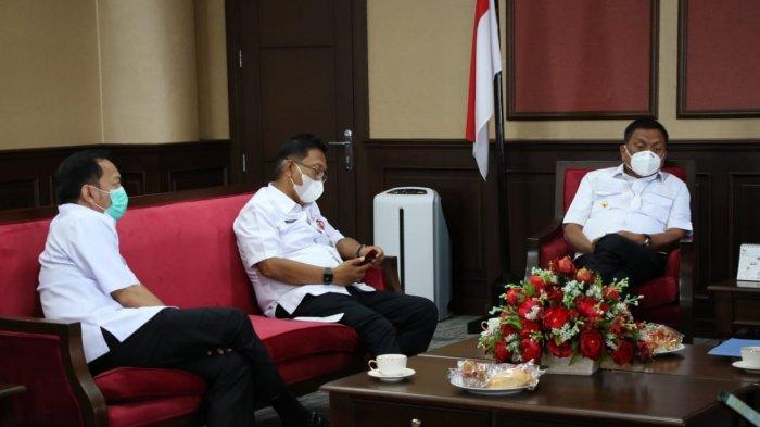 Gubernur Sulut Olly Dondokambey Terima Kunker Wali Kota Tomohon Caroll Senduk