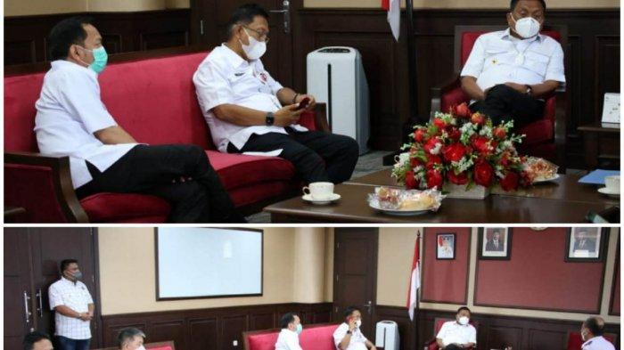 Gubernur Sulawesi Utara (Sulut) Olly Dondokambey menerima kunjungan kerja (kunker) Wali Kota Tomohon, Caroll Senduk