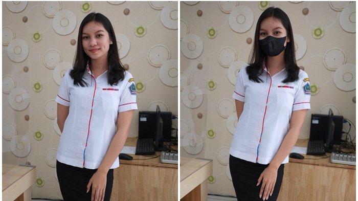 Gadis Cantik Omega Gloaria Paat Ingatkan Perketat Prokes di Pusat Perbelanjaan