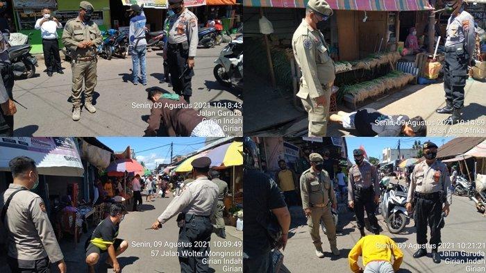 Operasi Yustisi di Kota Bitung, Provinsi Sulawesi Utara.