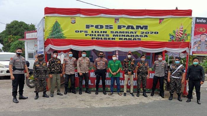 Polres Minahasa Bersama GP Ansor Bersinergi Amankan Perayaan Natal