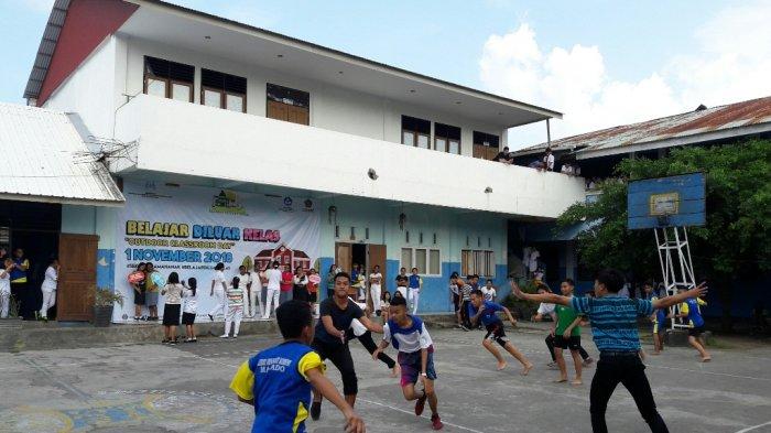 Seperti Ini Outdoor Classroom Day Di Sma Advent Klabat Manado Ada Permainan Tradisional Tribun Manado