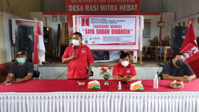 Alumni GMNI Minahasa Tenggara Fasilitasi Vaksinasi Massal