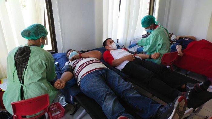 Peringat HDDS 2021, PMI Minahasa Gelar Donor Darah