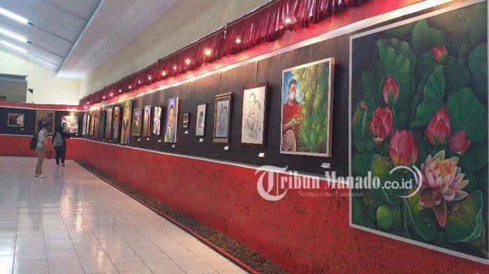 Tetap Bisa Didatangi Pengunjung, Dinas Kebudayaan Sulut Gelar Pameran Lukisan Virtual