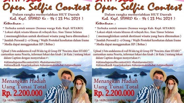 Pemerintah Kecamatan Sitimsel Sitaro Gelar Open Selfie Contest 2021, Berikut Panduannya