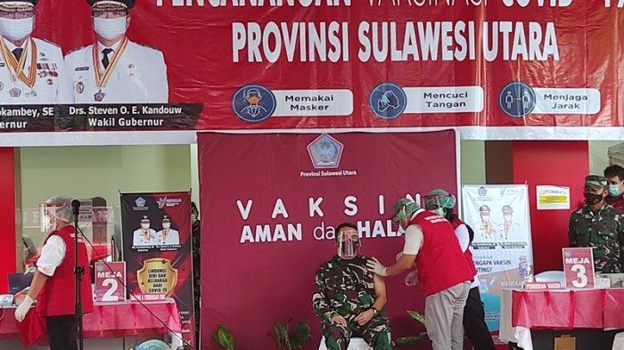 Pangdam XIII Merdeka Pejabat Forkompimda Pertama TerimaVaksin Covid-19 di Sulut
