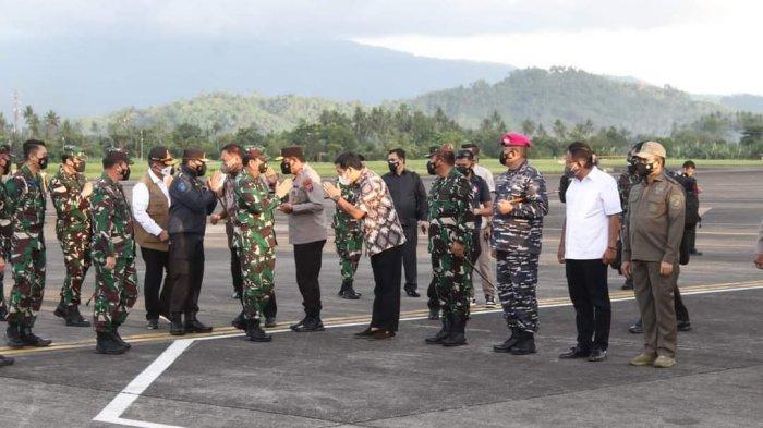 Panglima TNI Marsekal Hadi Tjahjanto Tiba di Sulut, Disambut Gubernur Olly Dondokambey