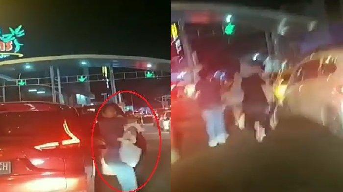 Gempa 7.1 SR, Wanita Panik, Gendong Bayi Sambil Lari Keluar dari Kawasan Megamas Manado