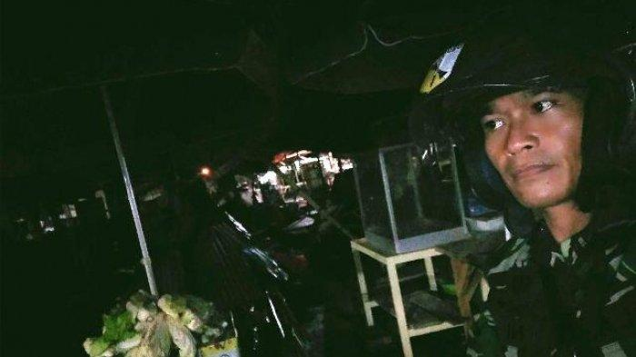 Babinsa Koramil 1310-01/Bitung Patroli di Pasar Girian