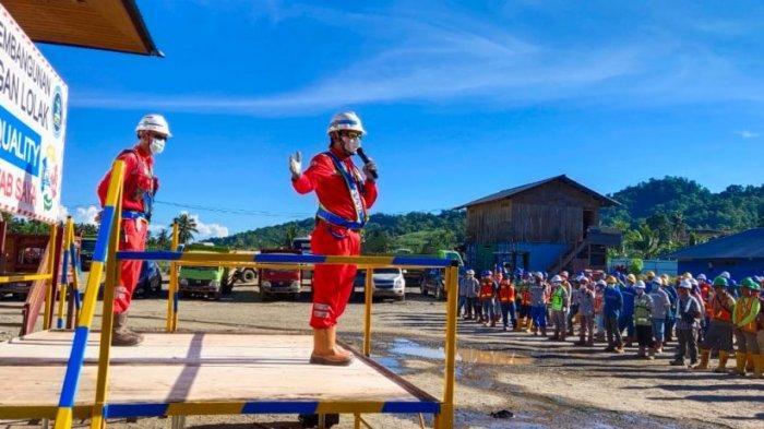 PT PP Proyek Bendungan Lolak Bolmong Senantiasa Prioritaskan Keselamatan Pekerja