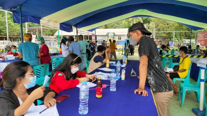 Seluruh Karyawan dan Pekerja PT PP Bendungan Lolak Sudah Divaksin Covid-19