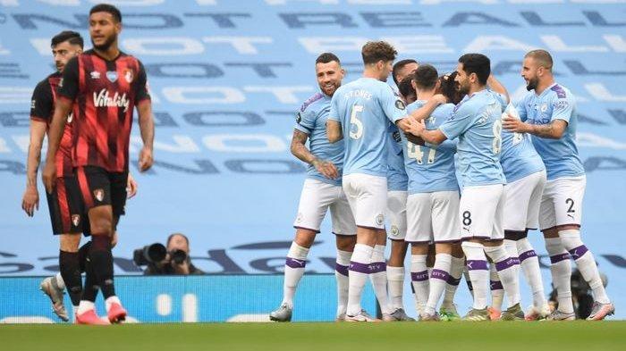 SKOR (Hasil Pertandingan) Manchester City VS Bournemouth, Liga Inggris Kamis 16 Juli 2020