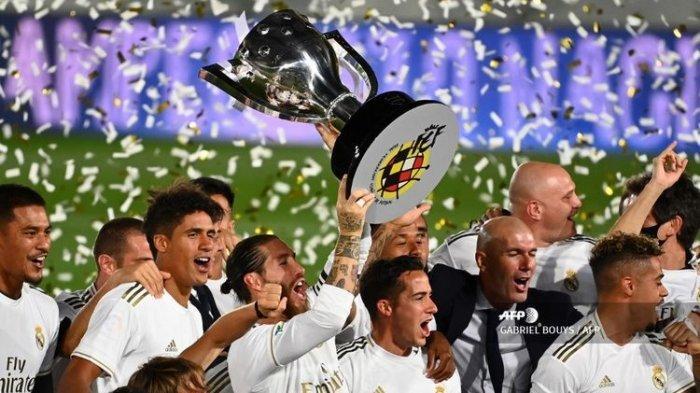 Real Madrid Raih Trofi Ke-92 Usai Juara Liga Spanyol, Los Blancos Salip Torehan Barcelona