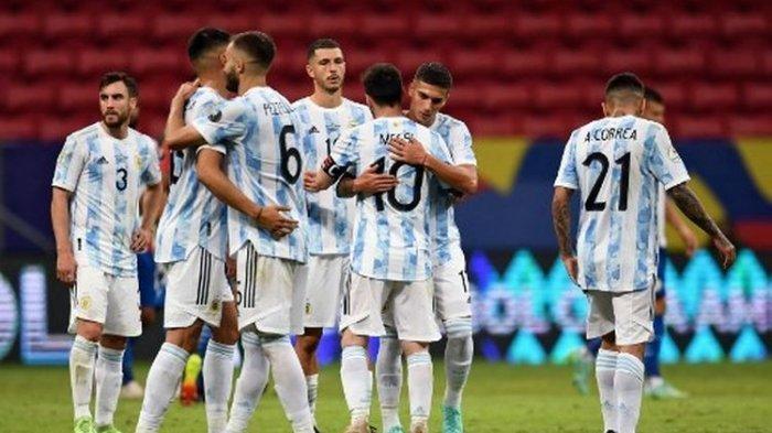 Hasil Babak Pertama Argentina vs Brasil, Gol Cantik Angel Di Maria Bawa Tim Tango Tatap Juara