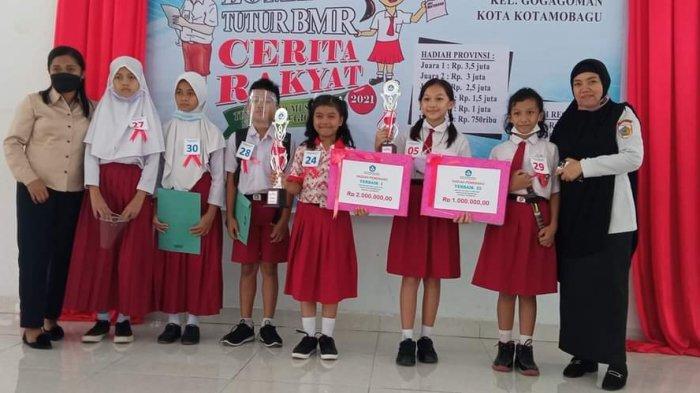 Utusan SDN 1 Moloibagu Bolmong Raih Peringkat Pertama di Lomba Tutur Cerita Rakyat BMR