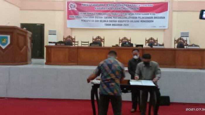 DPRD Bolmong Gelar Paripurna Laporan Pertanggungjawaban APBD 2020