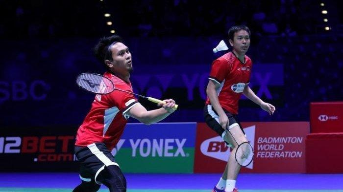 Pasangan ganda putra Indonesia, Mohammad Ahsan/Hendra Setiawan