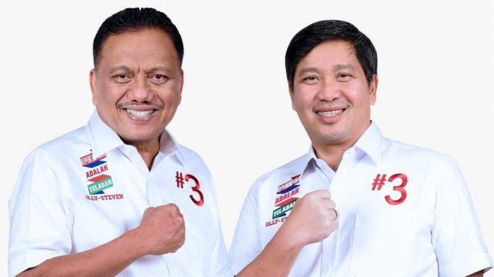 Olly-Steven Yakin Sapu Bersih Menang di Minahasa Raya, Nusa Utara dan Bolmong Raya