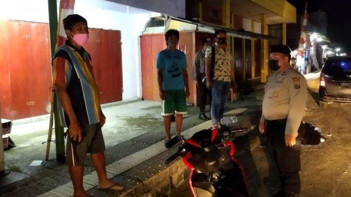 Polres Kepulauan Talaud Patroli Malam, Tegur Warga yang Tidak Taat Protkes