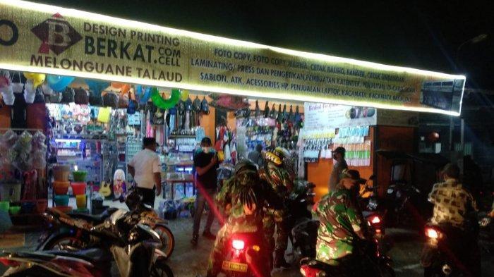 Patroli yang dilakukan di seputaran pusat kota Melonguane