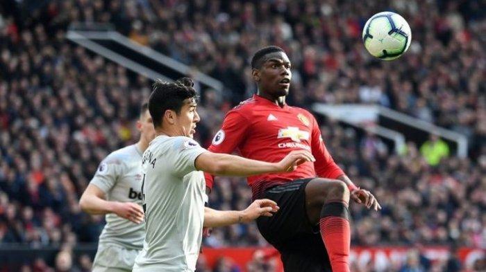 Hasil Manchester United Vs West Ham, Gol Penalti Pogba Menangkan Setan Merah