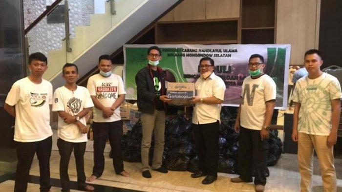 PCNU Bolsel Salurkan Bantuan Bagi Korban Banjir dan Longsor di Manado
