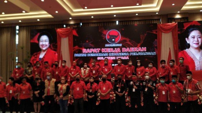 PDI Perjuangan Provinsi Sulut menggelar Rapat Kerja Daerah (Rakerda) di Hotel Luwansa, Kota Manado, Senin (28/6/2021).